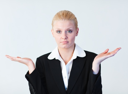 Young Confused businesswoman Stock Photo - 10243209
