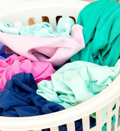 houseclean: Close-up of a linen basket