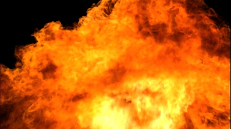 Highly Detailed 3d abstract fire photo