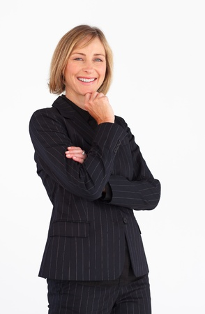 Smiling businesswoman looking at the camera Stock Photo - 10250096