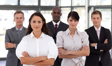 Business team in an office Stock Photo - 10250312