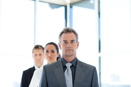 Administrador de liderar un equipo de negocios Foto de archivo - 10250093