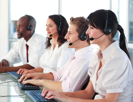 Business employees in a call center Stock Photo - 10246072