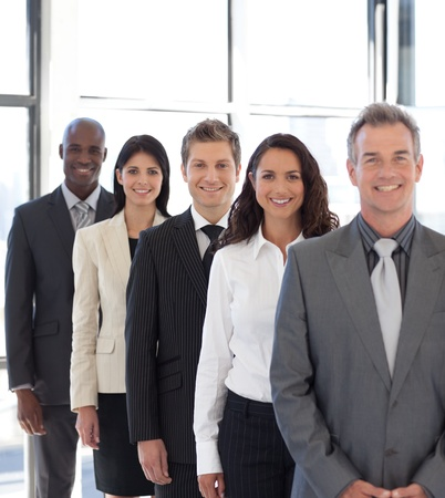 businesspeople from different cultures looking at camera Stock Photo - 10247467