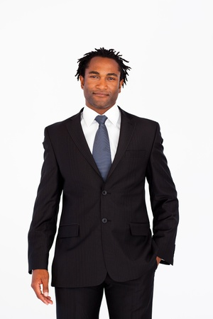 Handsome businessman in front of camera Stock Photo - 10249451