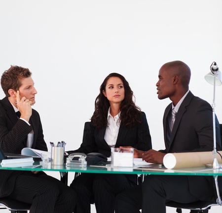 Business team discussing in a meeting Stock Photo - 10247185