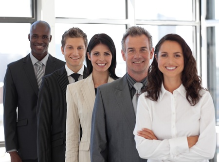Business woman leading a business team Stock Photo - 10233958