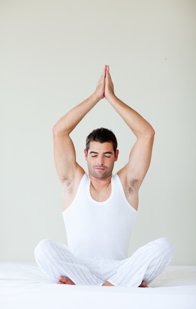 meditaion: Man sitting in meditaion pose