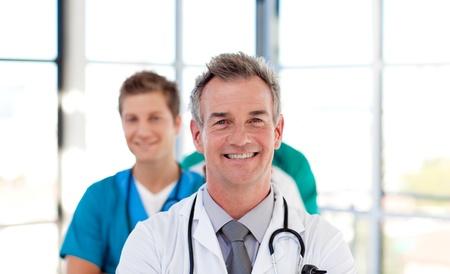 Senior doctor leading his team Stock Photo - 10249328