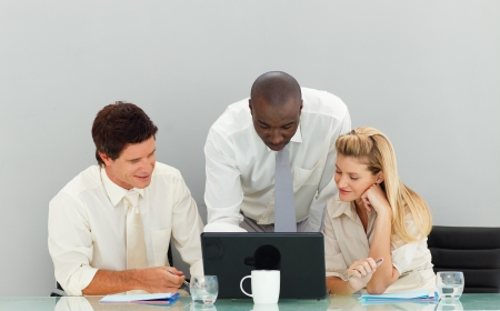 Business people working in an office Stock Photo - 10247725