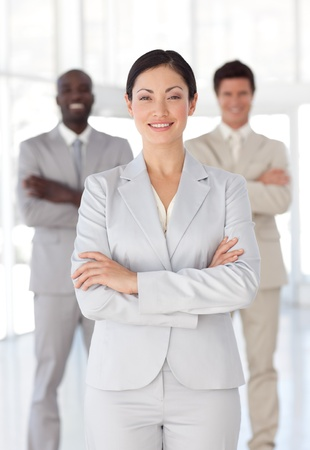 Business team showing Spirit and expressing Positivity Stock Photo - 10249305