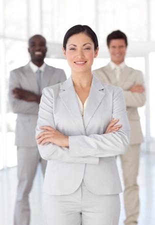 Business-Team zeigt Geist und Positive Emotionen Lizenzfreie Bilder - 10249305