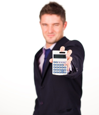 man with a calculator photo