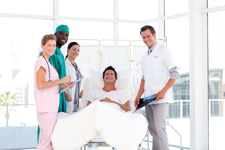 Consultation between doctors and a patient photo
