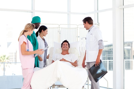 Consultation between a surgeon and a patient photo