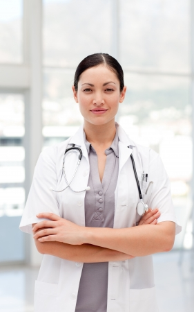 Bright female doctor looking at the camera Stock Photo - 10249421