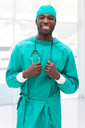 Attractive male doctor looking at the camera photo