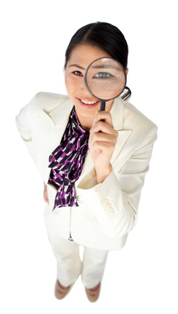 Attractive businesswoman looking at the camera photo