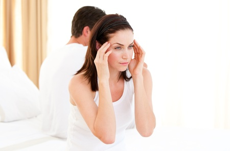 resentful: Annoyed couple having an argument Stock Photo