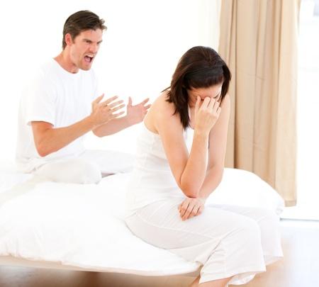 disconsolate: Furious couple having an argument