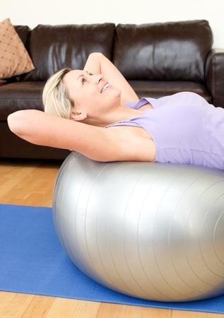 calm woman: Calm woman doing exercice