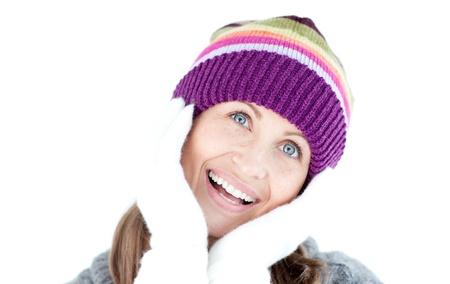 Cheerful woman looking at the camera  photo