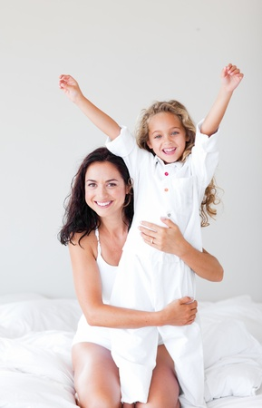 Attentive mother hugging her daughter Stock Photo - 10246127