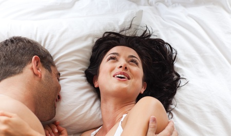 chirpy: Smiling attractive woman having fun with a man