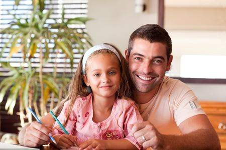 pere et fille: Heureux p�re avec sa fille. Banque d'images