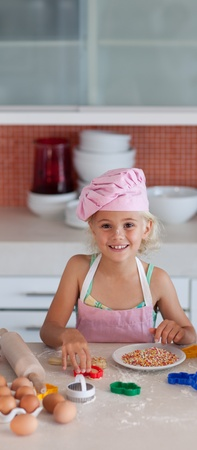 Smiling young girl working Stock Photo - 10246293