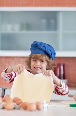 Positive little boy with a daugh  photo