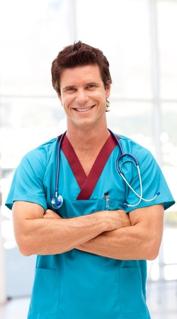 Portrait of a doctor with stethoscope photo