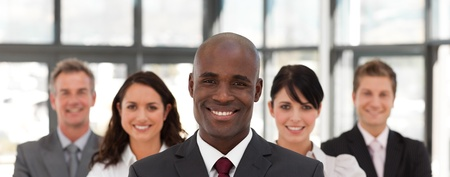 buisinessman: View of a confident business team looking at the camera Stock Photo