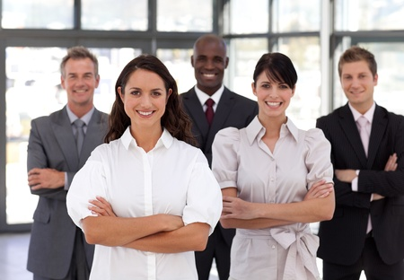 Portrait of smiling business people looking at the camera Stock Photo - 10247974