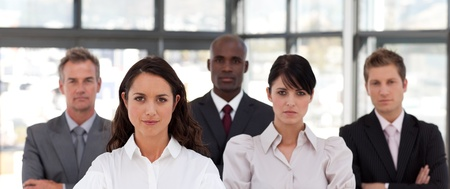 buisinessman: Portrait of multi-ethnic business people looking at the camera