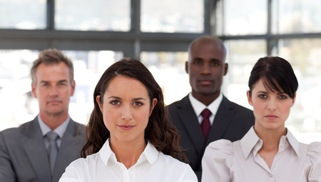 buisinessman: Portrait of confident business people looking at the camera