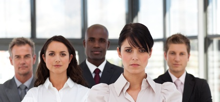 buisinessman: Portrait of serious business people looking at the camera