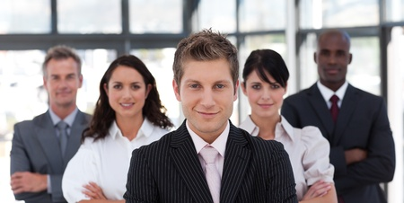 Seus business team looking at the camera Stock Photo - 10247605