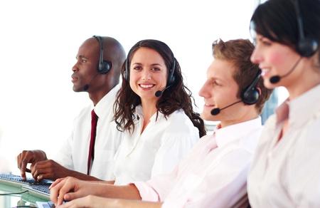 Portrait of a united sale representative team at work Stock Photo - 10247033