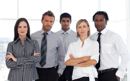 buisinessman: Portrait of a confident group of business people looking at the camera