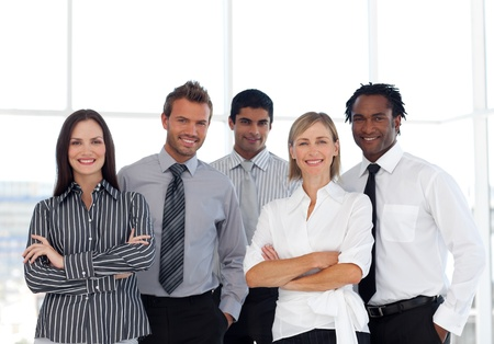 buisinessman: Portrait of a happy group of business people looking at the camera