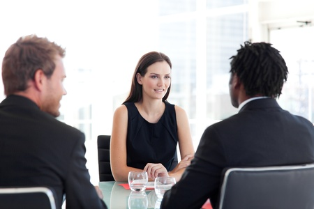 Business colleagues talking together Stock Photo - 10249419