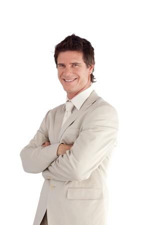 Porträt einer lächelnden Manager in die Kamera schaut