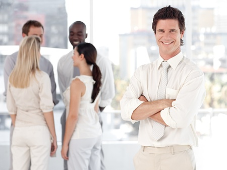 united people talking together at work Stock Photo - 10249167