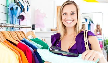 Caucasian woman selecting item  Stock Photo - 10233879