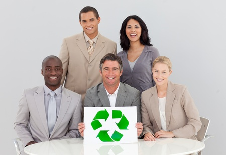 Good environmental practices in a meeting Stock Photo - 10246582