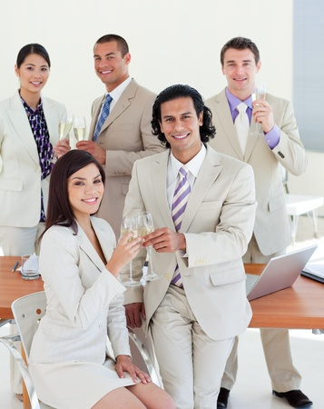 Happy business team celebrating a success Stock Photo - 10247554