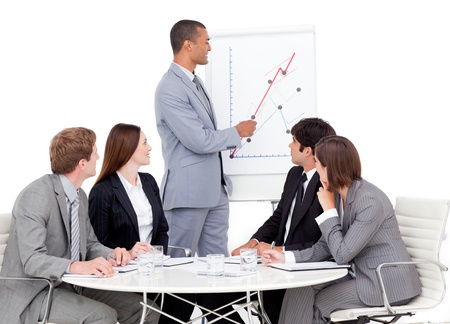 Attentive business group having a meeting Stock Photo - 10246267