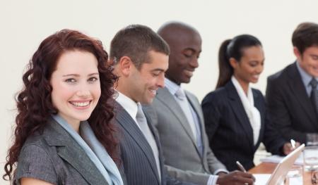 United multi-ethnic business team having a meeting Stock Photo - 10250202