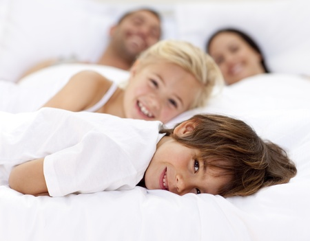 Family resting in parent Stock Photo - 10247166